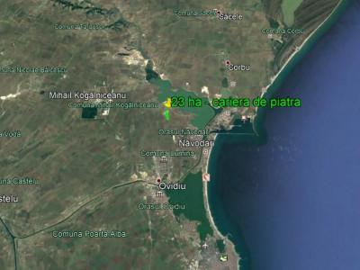 23 hectare - carieră exploatare piatră - Sibioara - Constanța